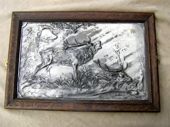 pewter wall plaque