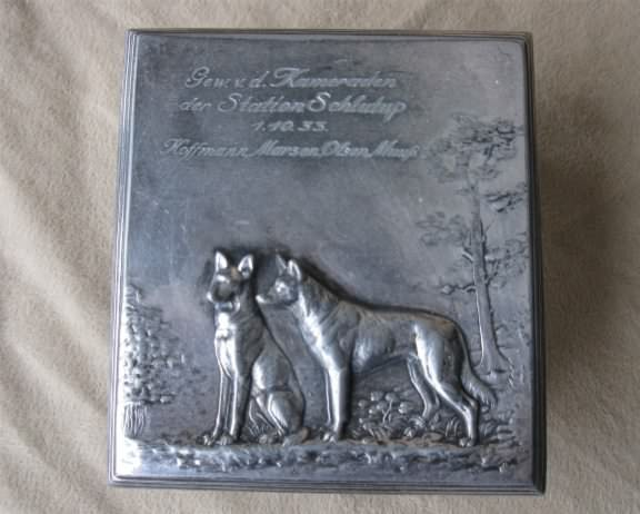 WMF trinket box german shepherd