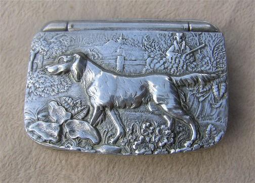 English Pewter Snuff Box