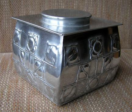 Carr Biscuit tin Archibald Knox design