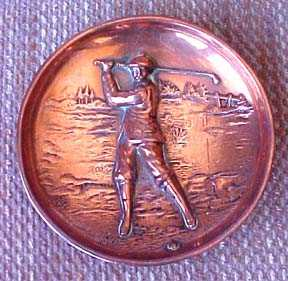 1907 copper golf dish