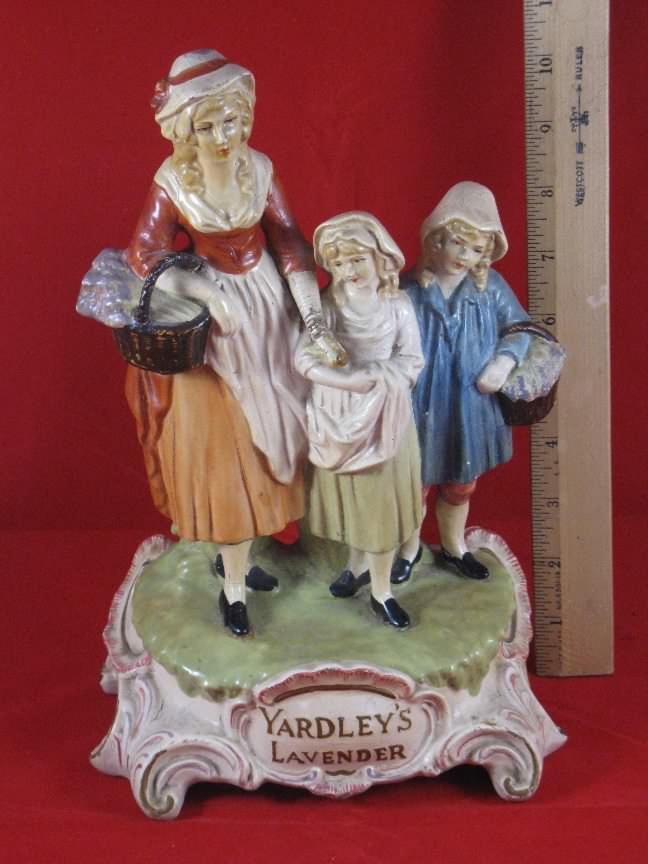 Yardley advertising display figure