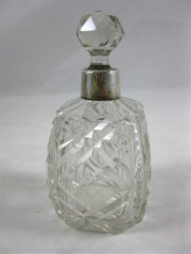 cut glass scent (perfume) bottle
