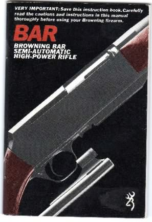 Browning instructions bar rifle