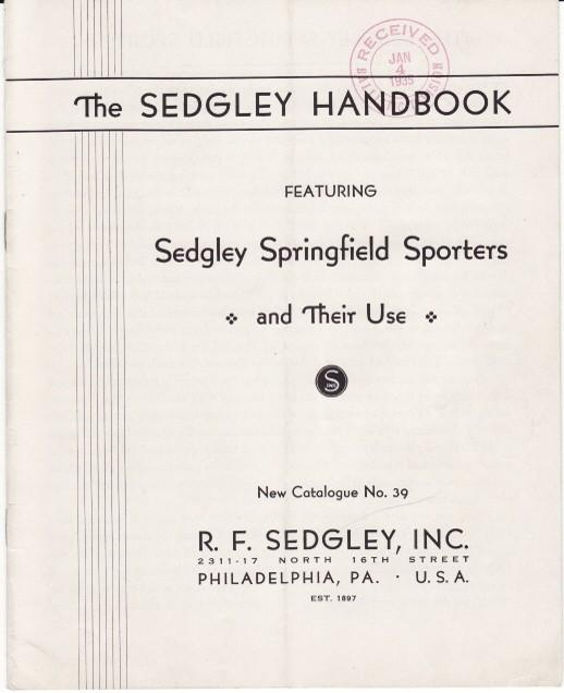 Sedgley 1935 Catalogue No. 39