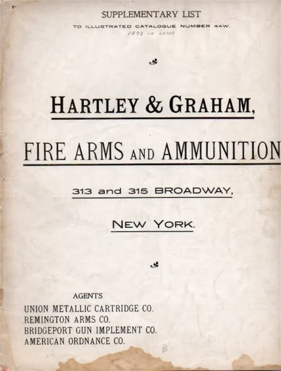 Hartley gun catalog circa 1900