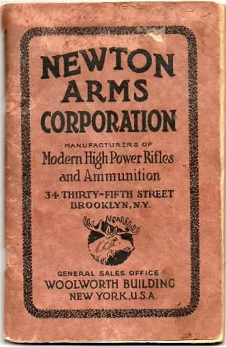 Newton Arms Catalog 1920's