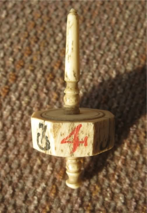 Antique bone wobble or gaming spinner