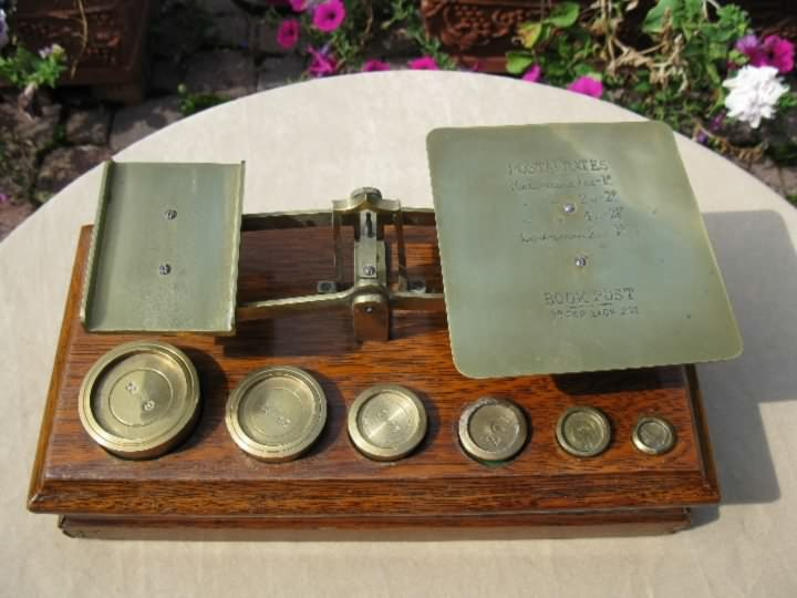 vintage Postal Scale w/book rates