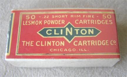 Clinton 22 short ammo box sealed one end