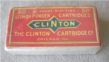 Clinton 22 short full ammunition box