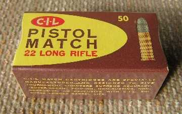 Cil 22 long Pistol Match cartridges