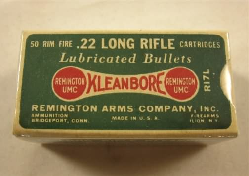 Remington 22 long rifle dog bone box