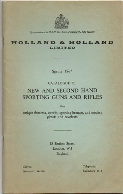 holland and holland 1967 catalog