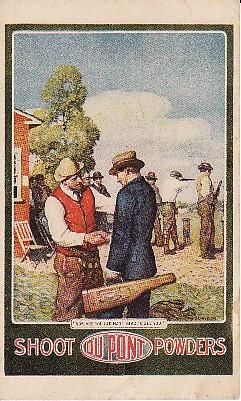 Dupont postcard trap shooting image