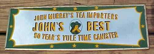 reverse glass tea sign