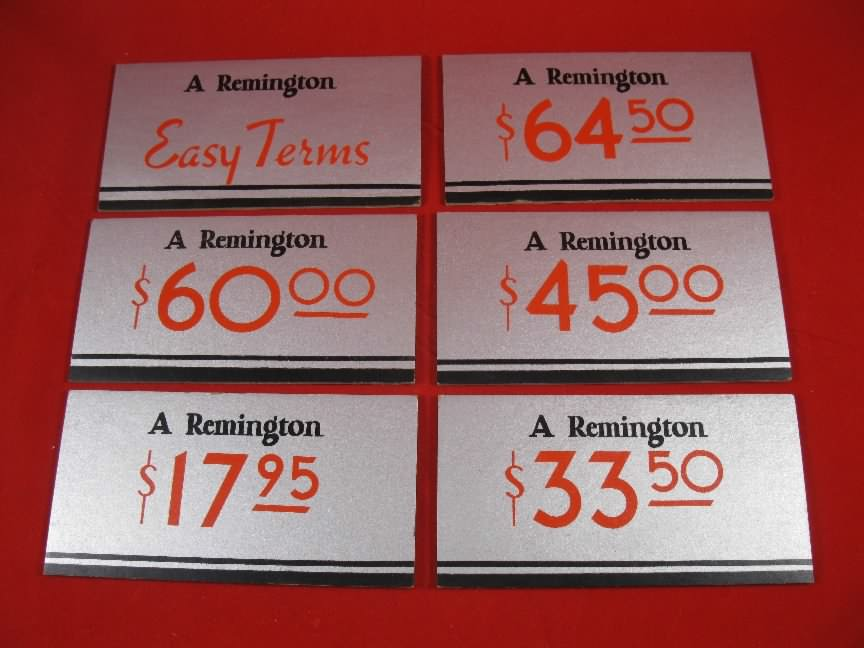 remington sign set