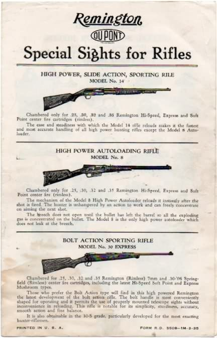 remington sights