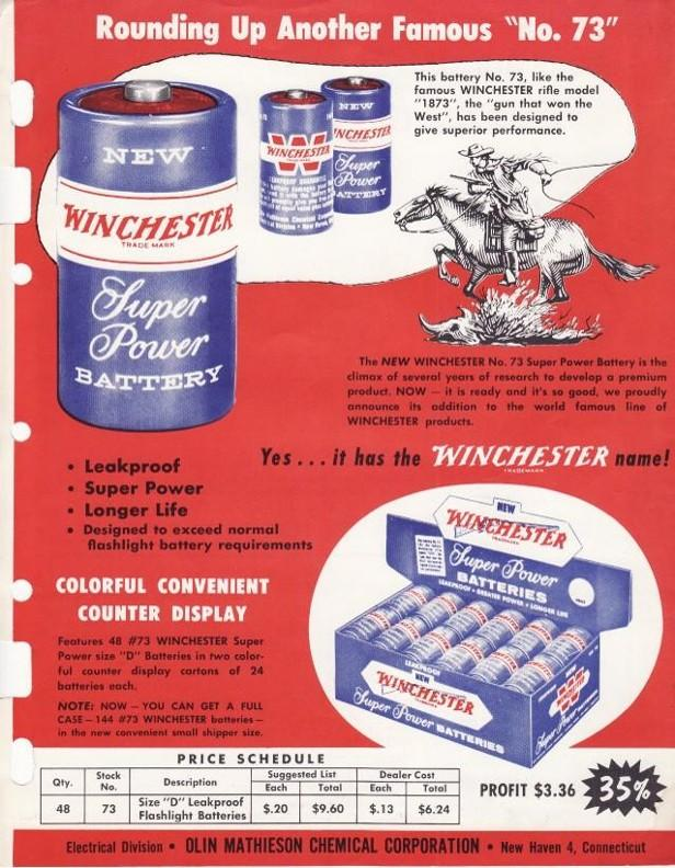 winchester flyer flashlight batteries
