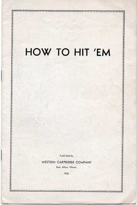Western Cartridge booklet 1933