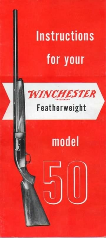 Winchester model 50 instructions