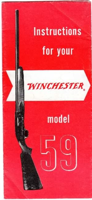 winchester model 59 instructions
