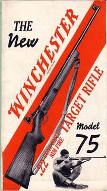 W 26932  WINCHESTER BROCHURE MODEL 75 TARGET RIFLE