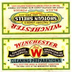 W 6817 Winchester Ammunition advertising box insert